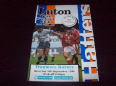 Luton Town v Tranmere Rovers, 1992/93